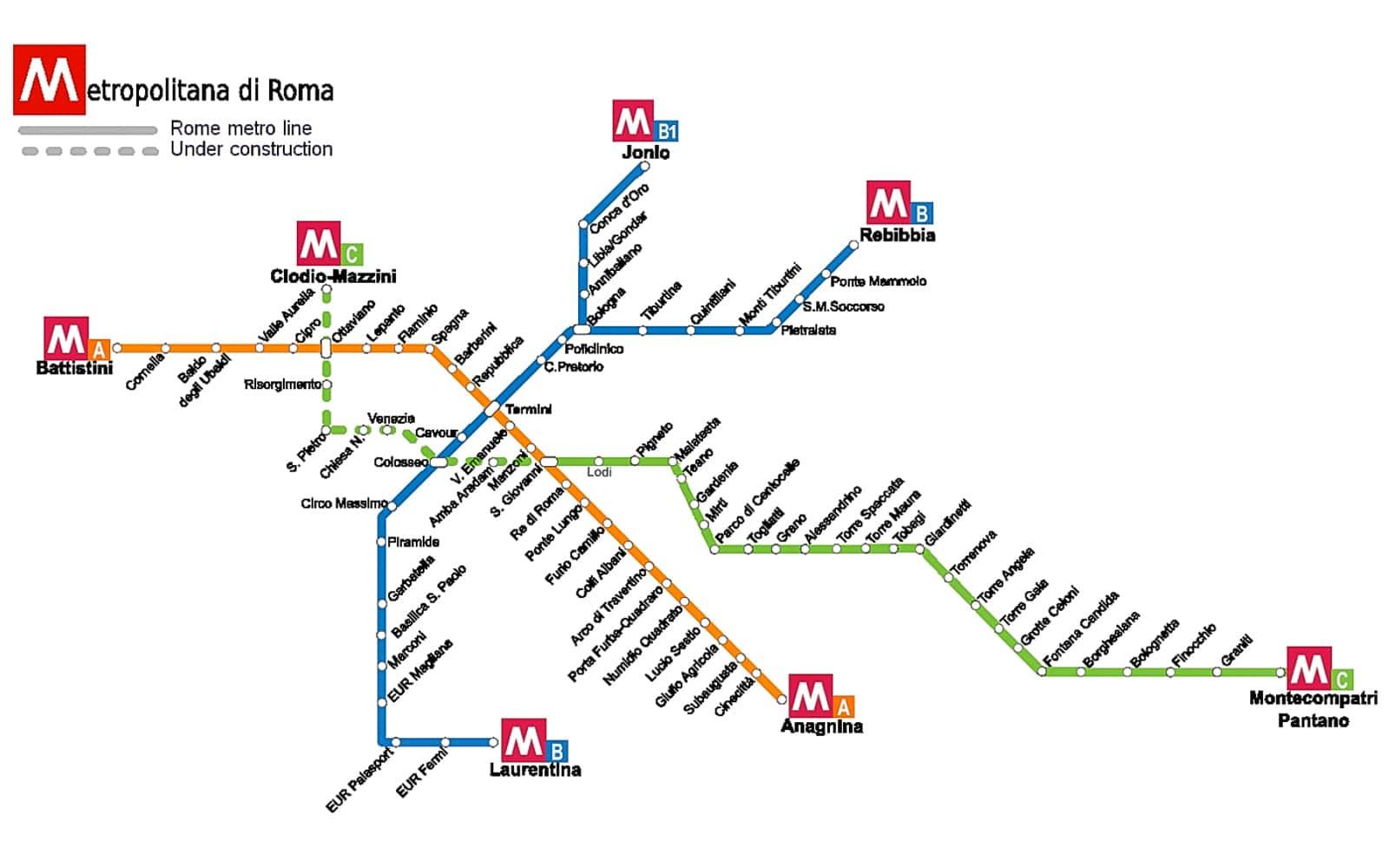 the rome metro map