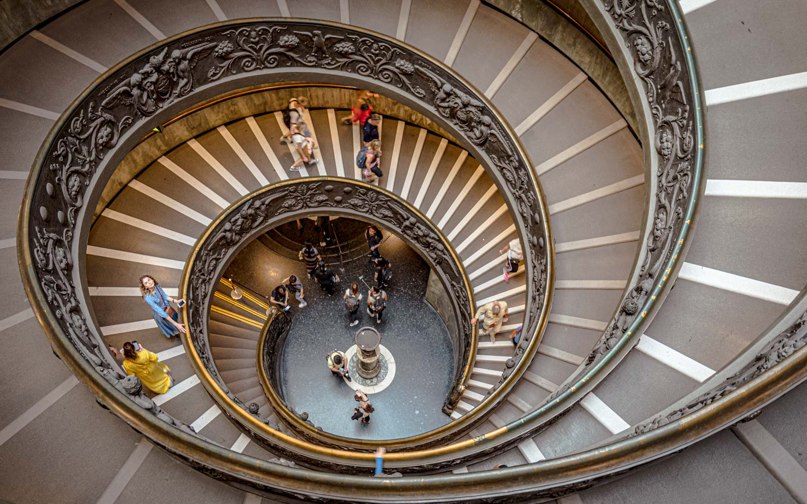 a spiral staircase at the vatican museums in rome italy